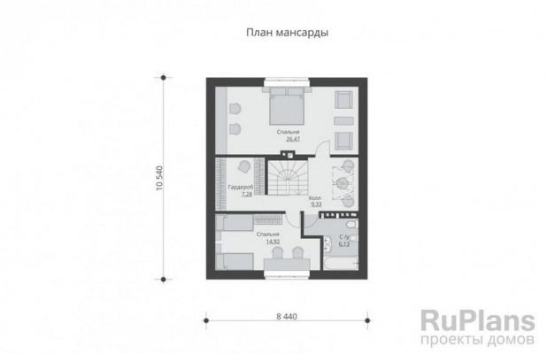 Дом 10,54 x 8,44